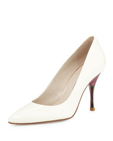 Donald J Pliner Brave Patent Leather Pump, White