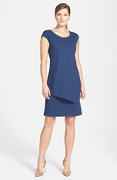 Lafayette 148 New York Cap Sleeve Punto Milano Sheath Dress (Regular & Petite)