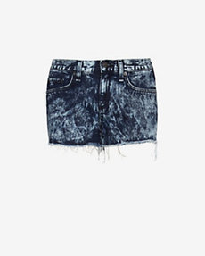 rag & bone/JEAN Acid Wash Cut Offs: Dark Blue