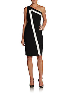 David Meister One-Shoulder Dress