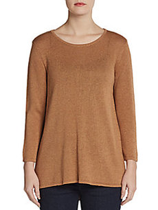 Ellen Tracy Draped-Back Pullover