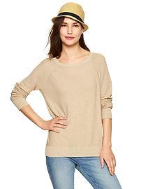 Contrast-sleeve sweater