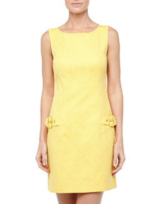 Laundry by Shelli Segal Drop-Waist Buckle-Detail Dress, Papaya