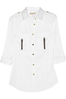 MICHAEL Michael Kors Stretch cotton-blend shirt