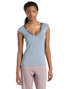 Calvin Klein Women's Essentials With Satin Short Sleeve Top