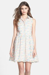 French Connection Print Chiffon Shirtdress