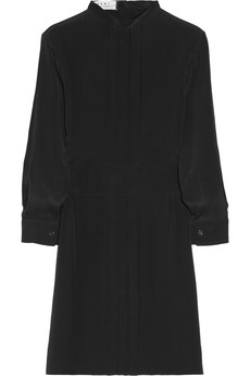 Marni Pleated crepe de chine dress
