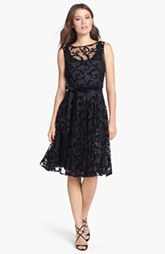 Isaac Mizrahi New York Lace Burnout Fit & Flare Dress (Petite) (Petite)