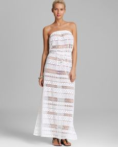 MILLY Crochet Pahala Maxi Dress Swim Cover Up
