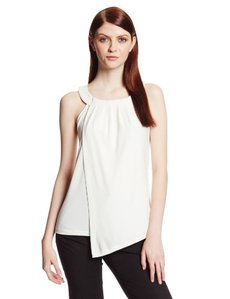 Calvin Klein Women's Sleeveless Double-Layer Top