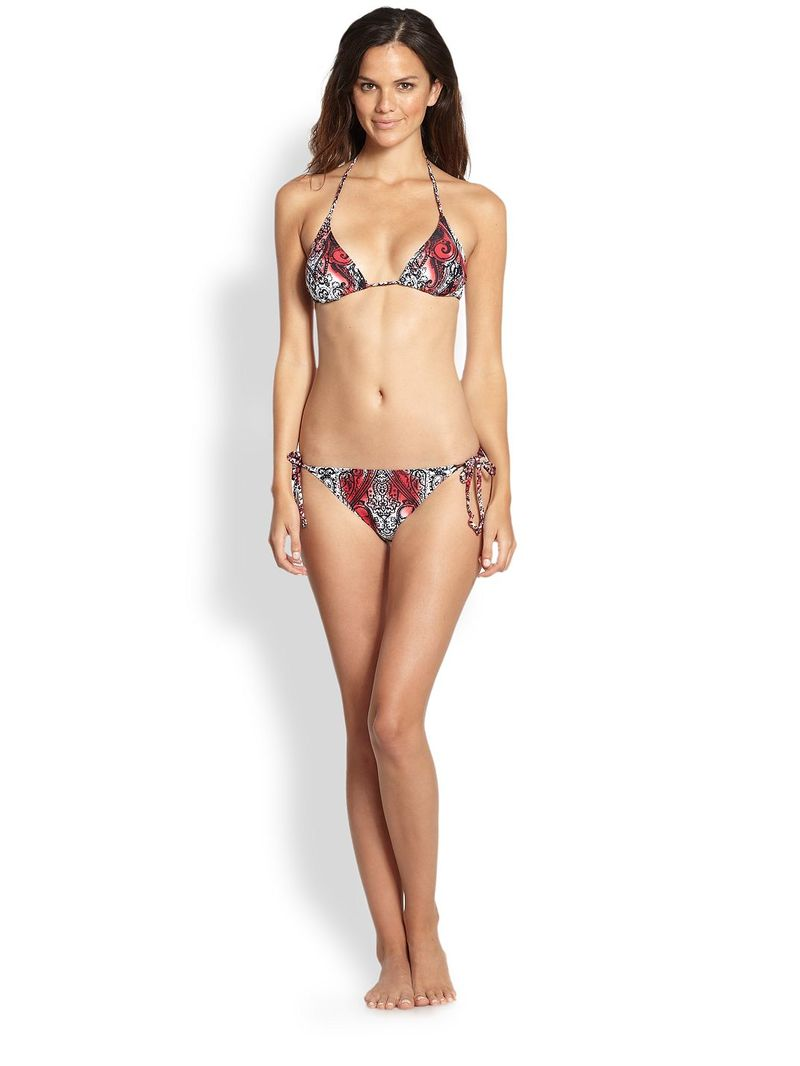 Etro Two-Piece Printed String Bikini