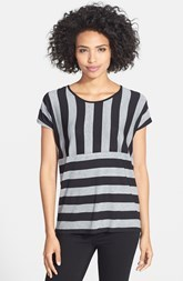 kensie Stripe Stretch Knit Tee
