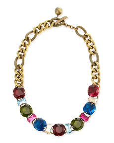 Lanvin Multicolor Crystal Necklace