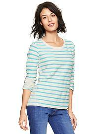 Stripe reverse terry sweatshirt