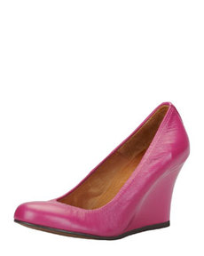 Ballerina Wedge Pump, Fuchsia   Ballerina Wedge Pump, Fuchsia