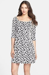 Betsey Johnson Dot Jacquard Fit & Flare Dress