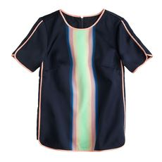 Collection surf-stripe top