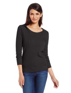 Jones New York Women's Long-Sleeve Low-Cut Hoodie with Seams