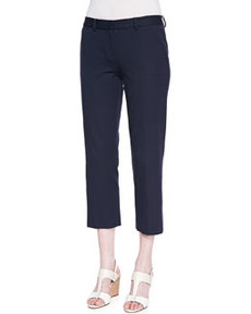 Sloane Cropped-Ankle Pants, Navy   Sloane Cropped-Ankle Pants, Navy