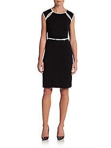 Calvin Klein Belted Cutout Dress