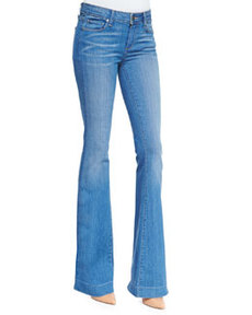 Fiona Harrison Whiskered Flared Denim Jeans   Fiona Harrison Whiskered Flared Denim Jeans