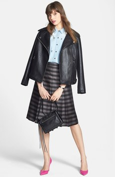 Kenneth Cole New York Moto Jacket, Halogen® Denim Shirt & Midi Skirt