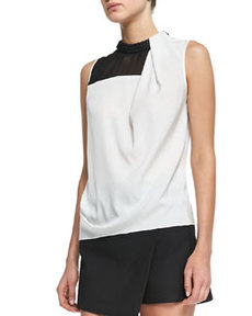 Robert Rodriguez Armor Combo Silk Beaded Top