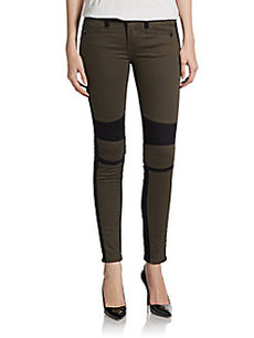 Genetic Denim Chrome Moto Colorblock Skinny Jeans