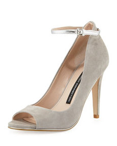 French Connection Neola Suede Leather Pump, Gray