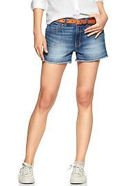 1969 raw-edge maddie denim shorts