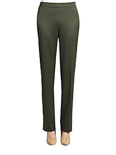 St. John Diana Wool Side-Zip Pants