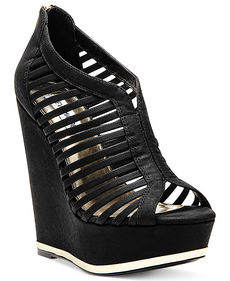 Steve Madden Women's Wresse Caged Platform Wedge Sandals
