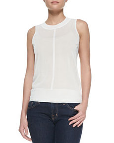 Murray Knit-Trim Sheer Tank   Murray Knit-Trim Sheer Tank