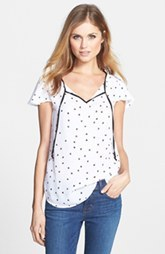 kensie Square Dots Top