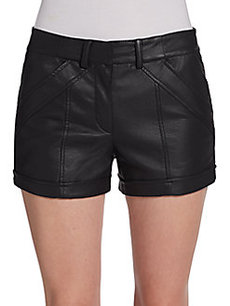 French Connection Albany Faux Leather Shorts