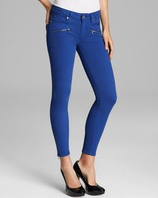 Paige Denim Jeans - Jane Zip Skinny in Ocean Blue