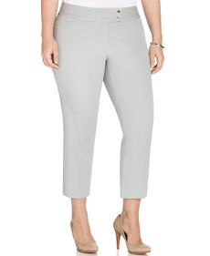 Alfani Plus Size Straight-Leg Capri Pants