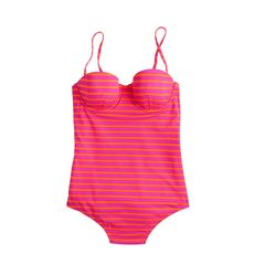 D-cup sailor-stripe underwire tank