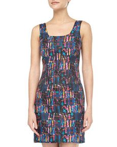 Cynthia Rowley Madras Plaid Silk Tank Dress, Blue Multi