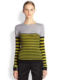 Jason Wu Merino Wool Stripe Top
