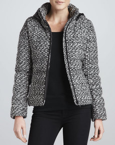Andrew Marc Blake Tweed Quilted Down Jacket