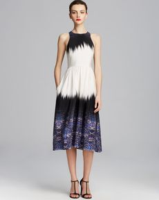 Tibi Dress - Ibis Silk Bordered Crossback