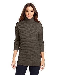 Calvin Klein Women's Honeycomb Turtle Neck Sweater