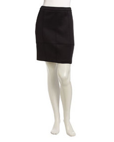 Laundry by Shelli Segal Structured Seamed Skirt, Black