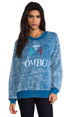 Rebel Yell Tomboy 70's Sweatshirt in Blue