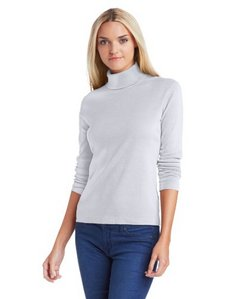 Three Dots Red Women's Long-Sleeve Turtleneck