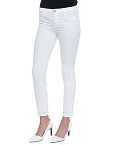 Skinny Cropped Rail Jeans, White   Skinny Cropped Rail Jeans, White