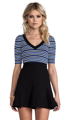 Nanette Lepore Harbor Top in Blue