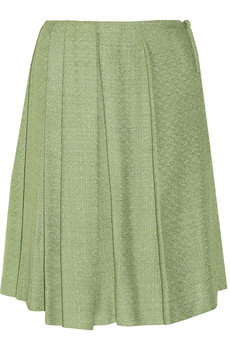 Marni Pleated tweed skirt