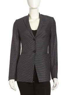 Lafayette 148 New York Wing-Collar Two-Button Jacket, Black